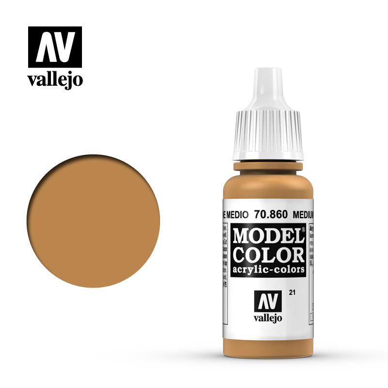 Vallejo Model Color - Med.Fleshtone - 17 ml - Vallejo - VAL-70860