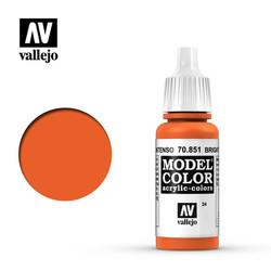 Model Color - Bright Orange - 17 ml - Vallejo - VAL-70851