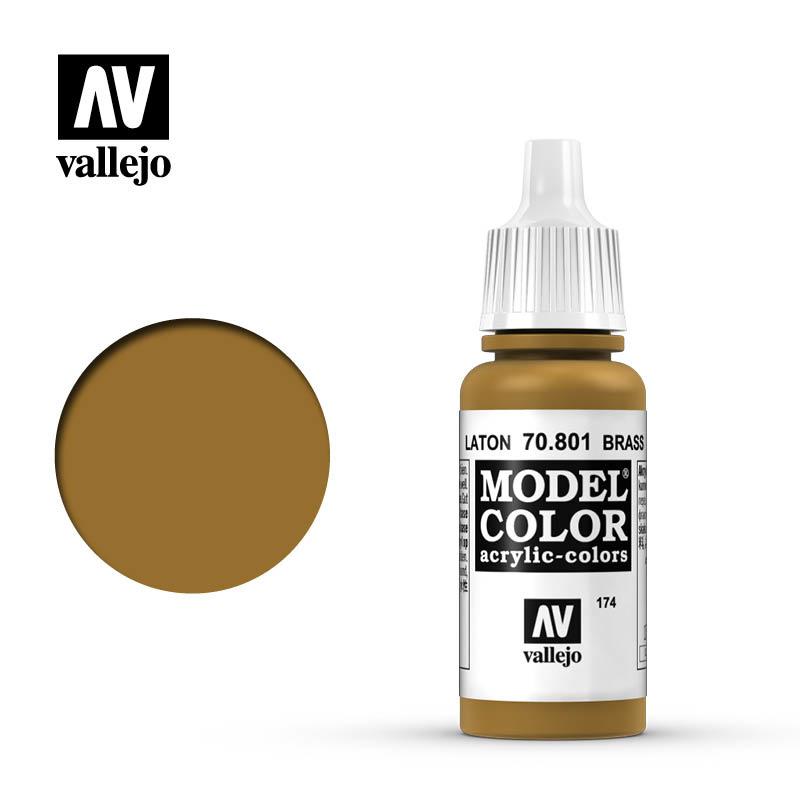 Vallejo Model Color - Brass - 17 ml - Vallejo - VAL-70801