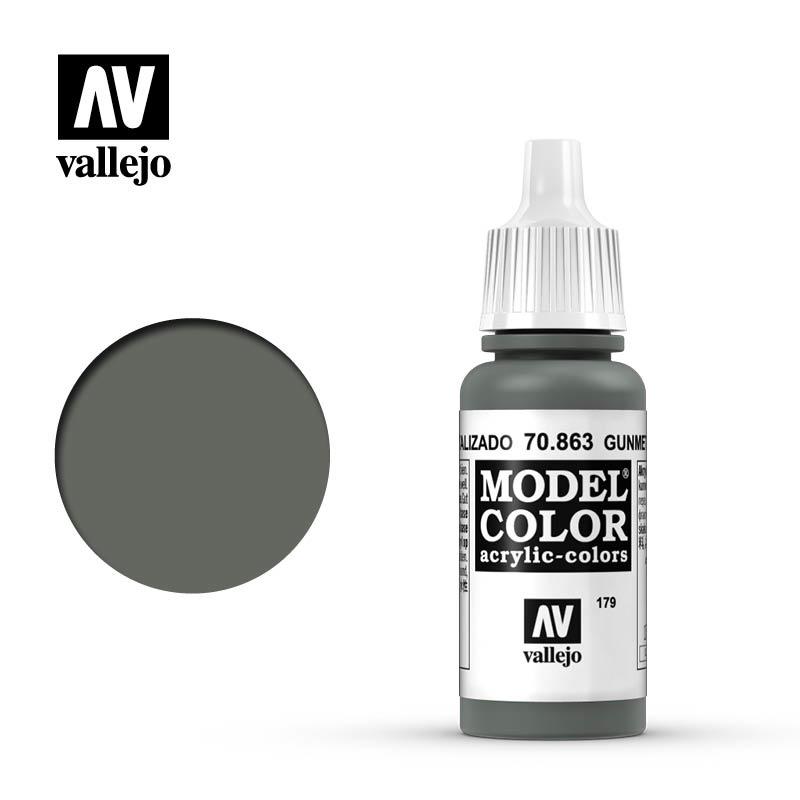 Vallejo Model Color - Gunmetal Grey - 17 ml - Vallejo - VAL-70863