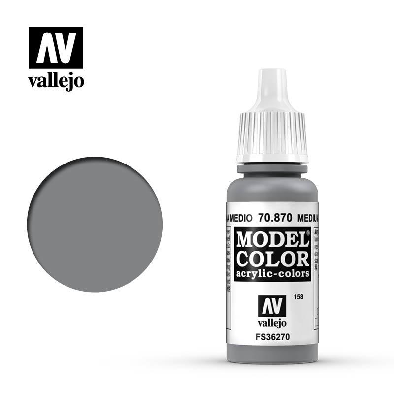 Vallejo Model Color - Med. Sea Grey - 17 ml - Vallejo - VAL-70870