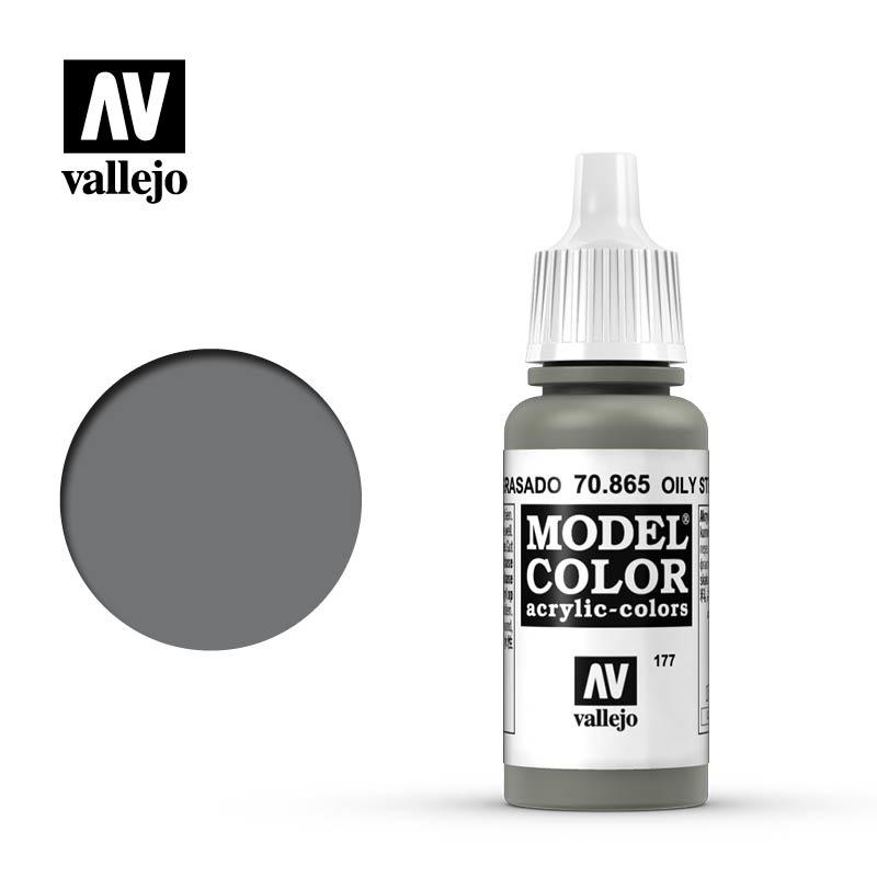 Vallejo Model Color - Oily Steel - 17 ml - Vallejo - VAL-70865