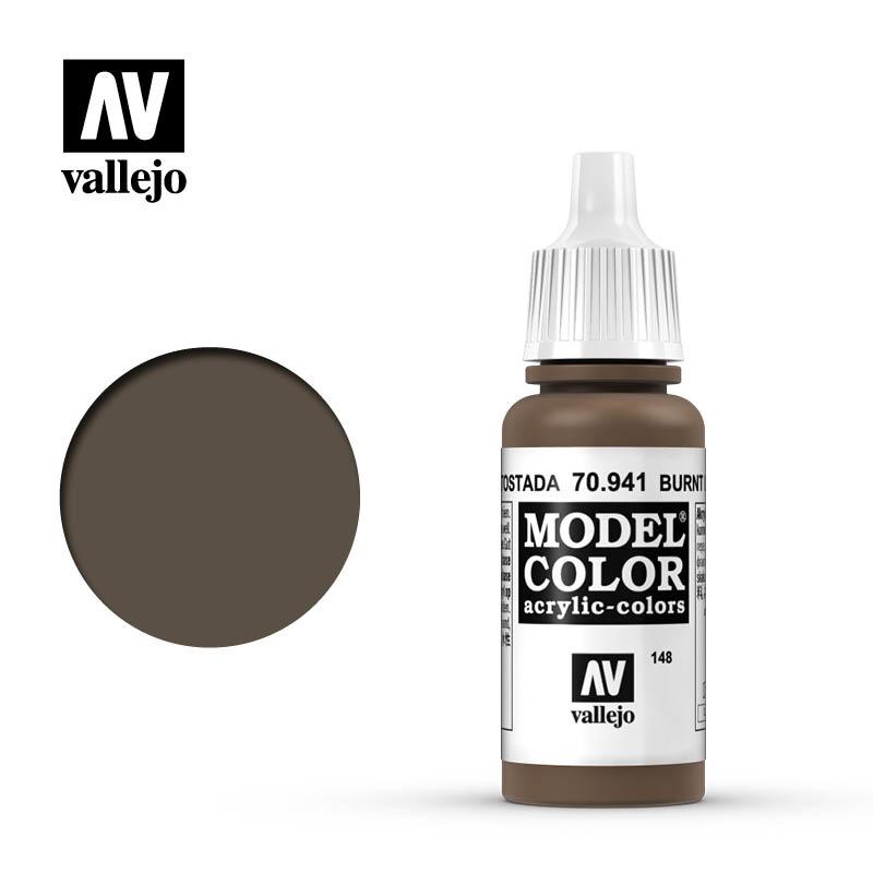 Vallejo Model Color - Burnt Umber - 17 ml - Vallejo - VAL-70941