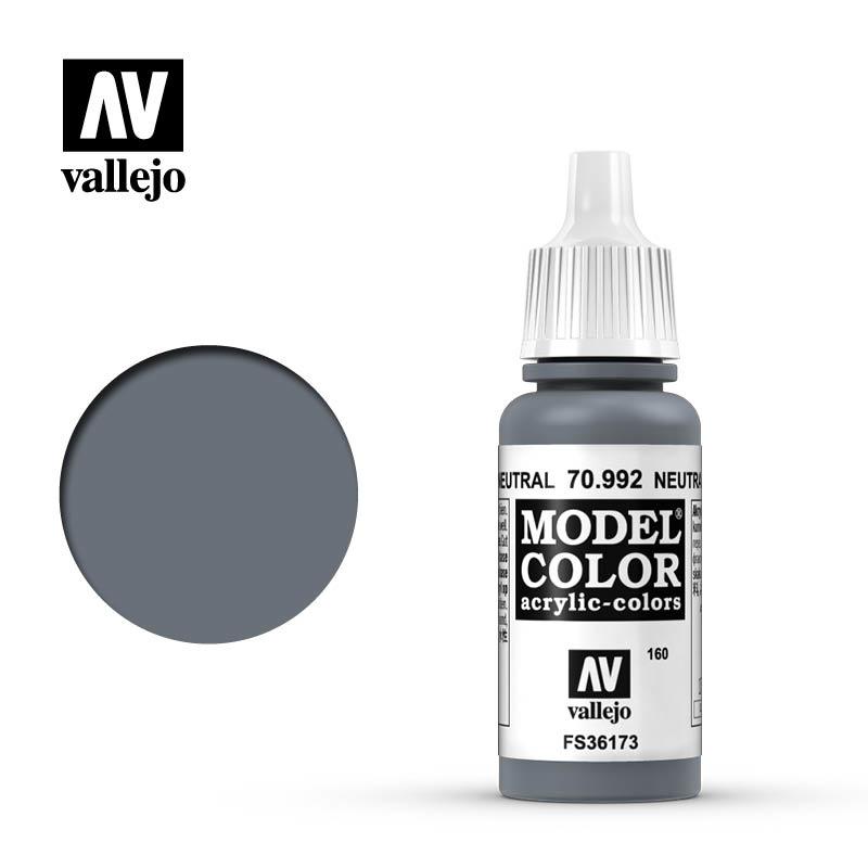 Vallejo Model Color - Neutral Grey - 17 ml - Vallejo - VAL-70992