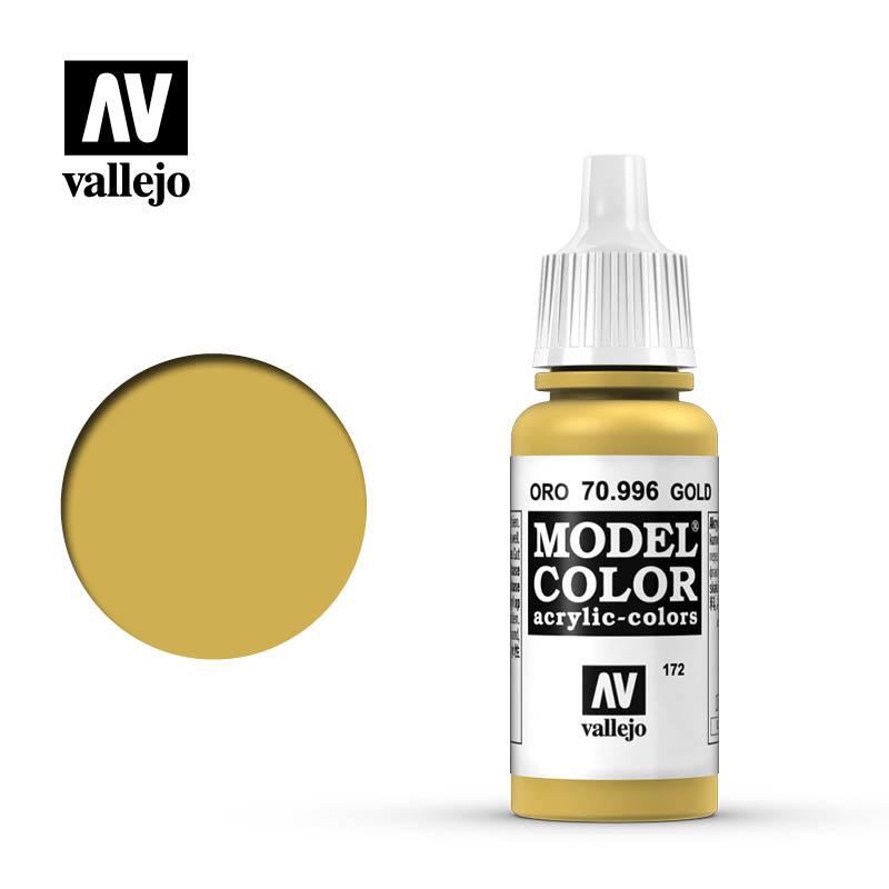 Vallejo Model Color - Gold - 17 ml - Vallejo - VAL-70996