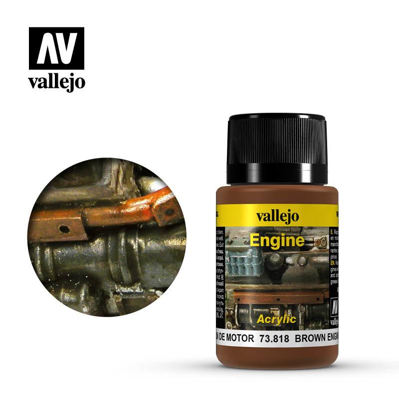 Vallejo Brown Engine Soot - 40ml - Vallejo - VAL-73818
