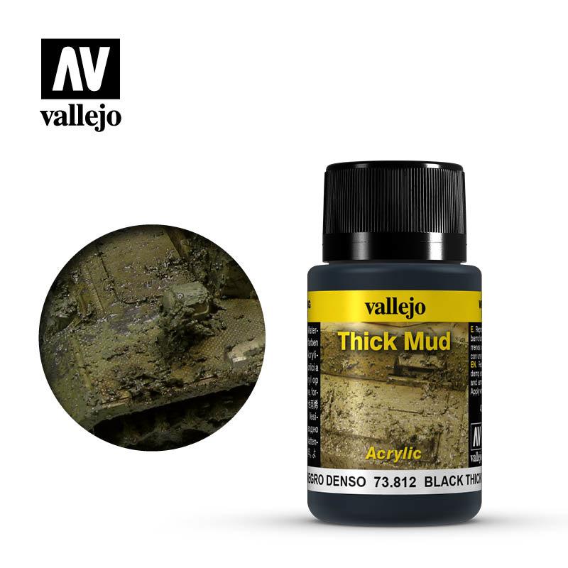 Vallejo Black Thick Mud - 40ml - Vallejo - VAL-73812