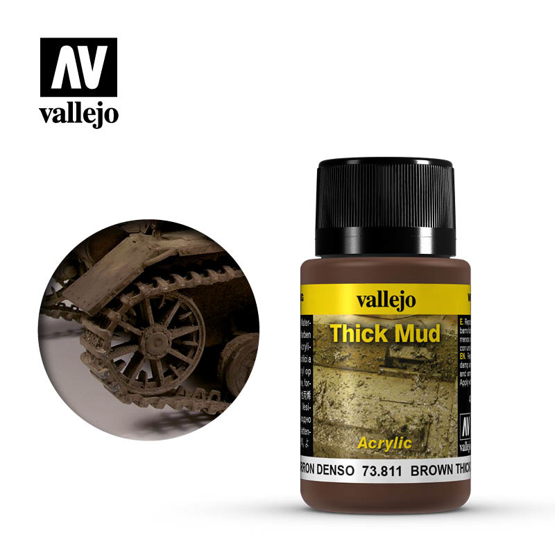 Vallejo Brown Thick Mud - 40ml - Vallejo - VAL-73811