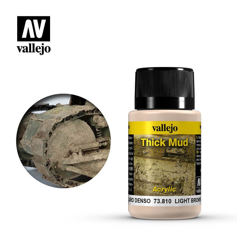 Vallejo Light Brown Thick Mud - 40ml - Vallejo - VAL-73810
