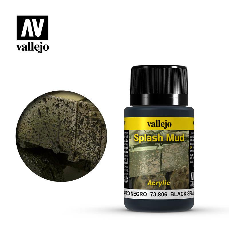 Vallejo Black Splash Mud - 40ml - Vallejo - VAL-73806