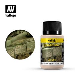 Light Brown Splash Mud - 40ml - Vallejo - VAL-73804