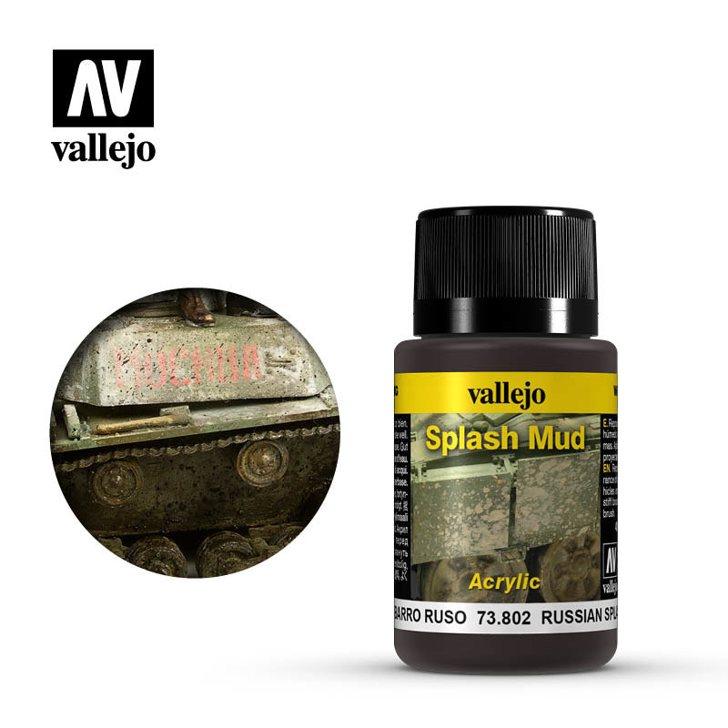 Vallejo Russian Splash Mud - 40ml - Vallejo - VAL-73802
