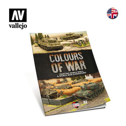 Colours Of War Book - Painting WWII & WWIII Miniatures - English - Vallejo - VAL-75013