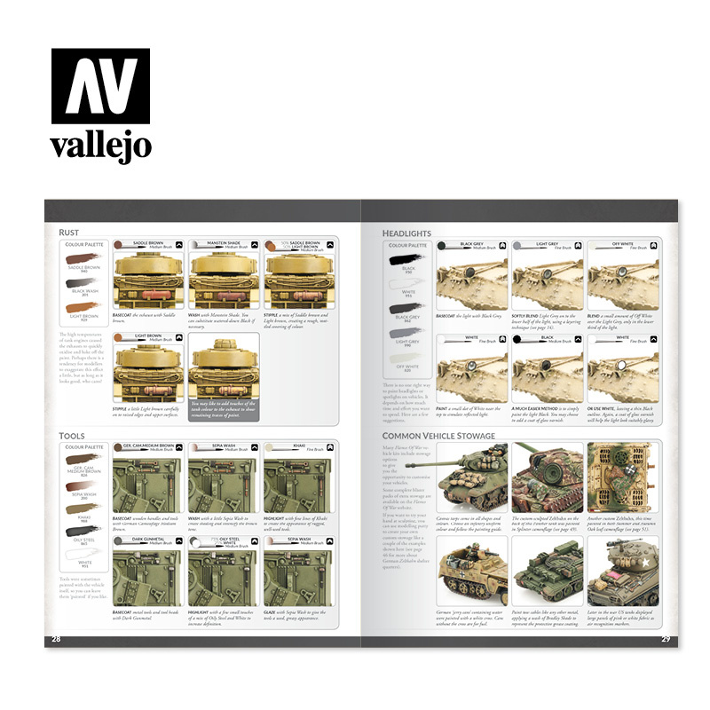 Vallejo Colours Of War Book - Painting WWII & WWIII Miniatures - English - Vallejo - VAL-75013