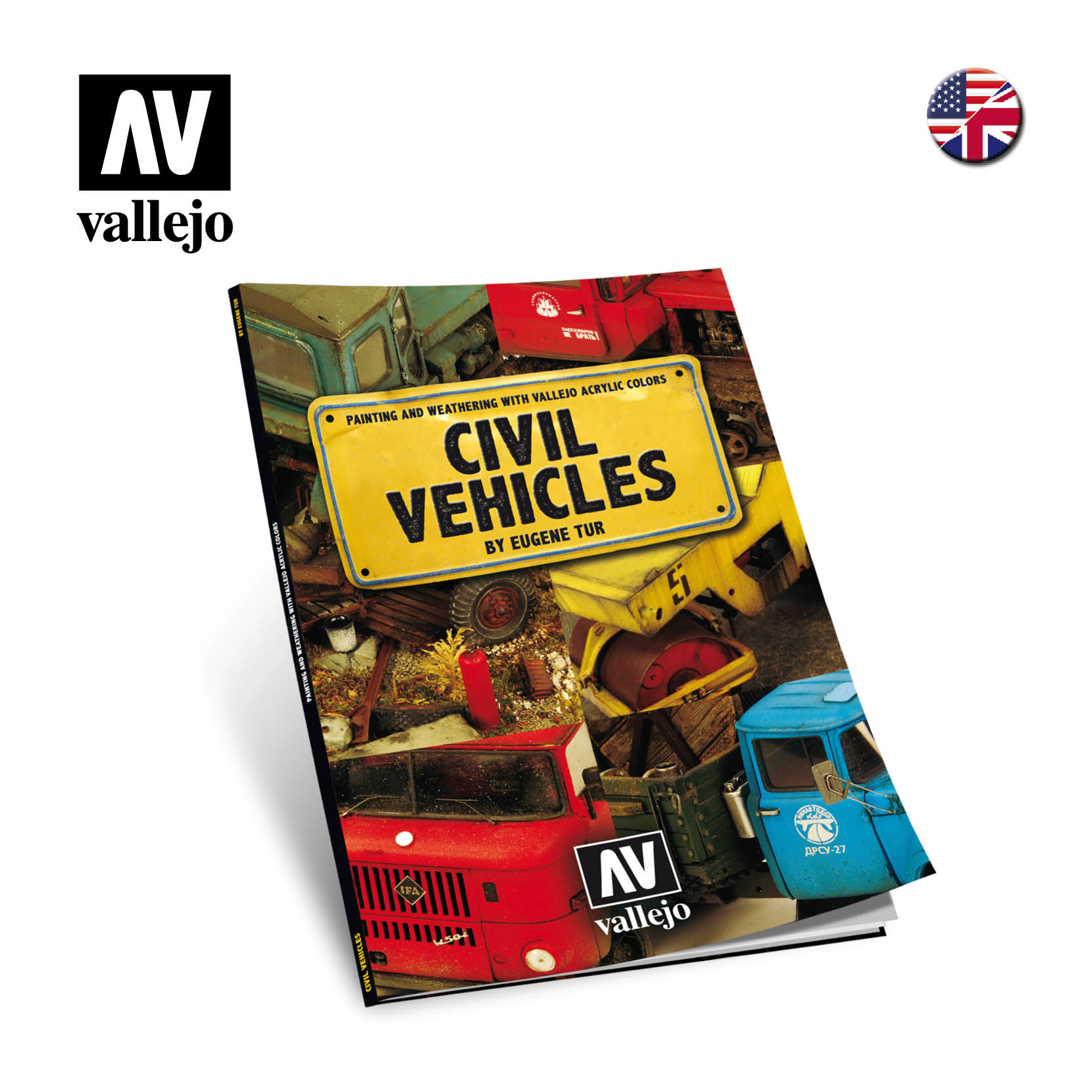 Vallejo Painting & Weathering with Vallejo acrylic colours- Vehicles - English - Vallejo - VAL-75012