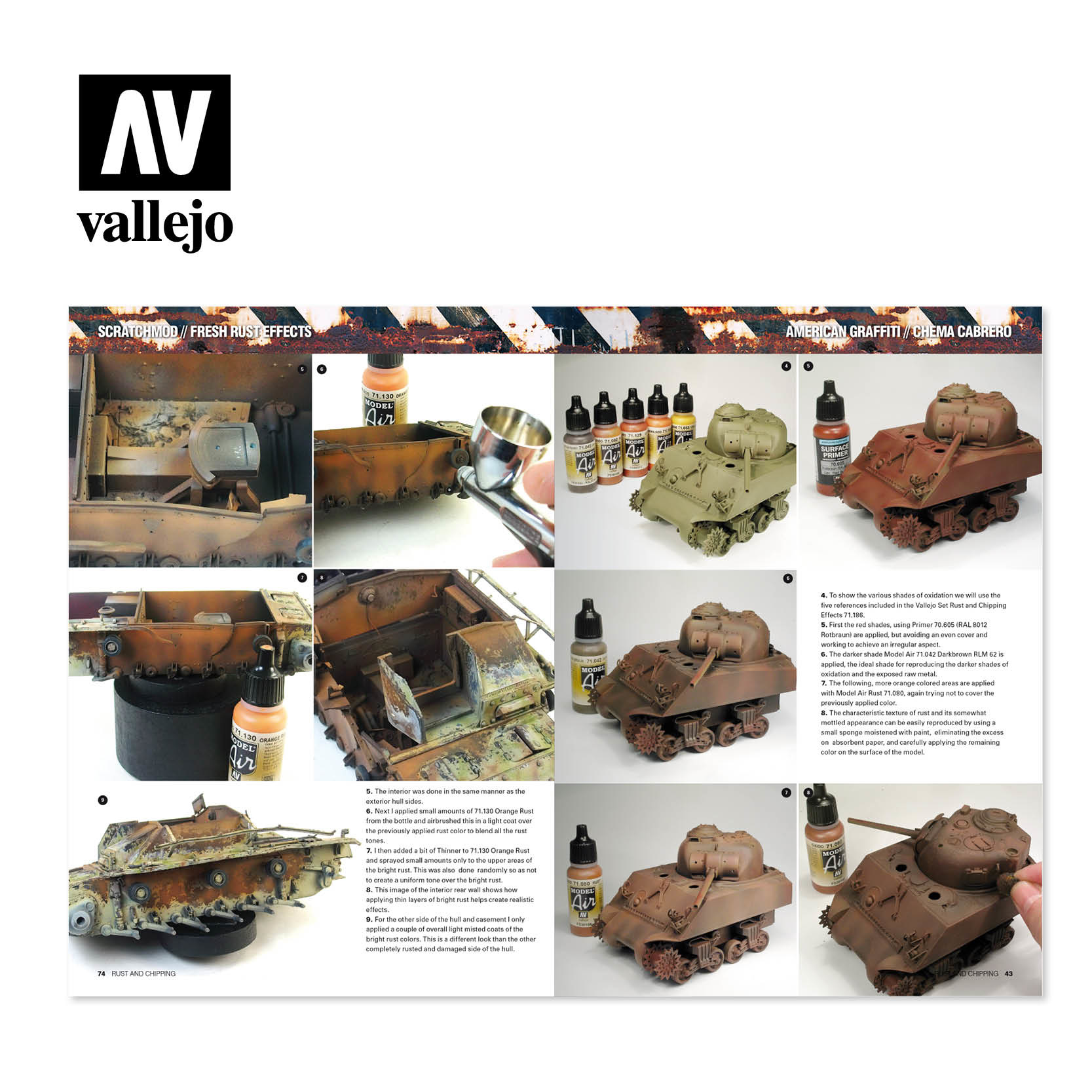 Vallejo Painting with Vallejo Acrylic Colours - Rust & Chipping - English - Vallejo - VAL-75011