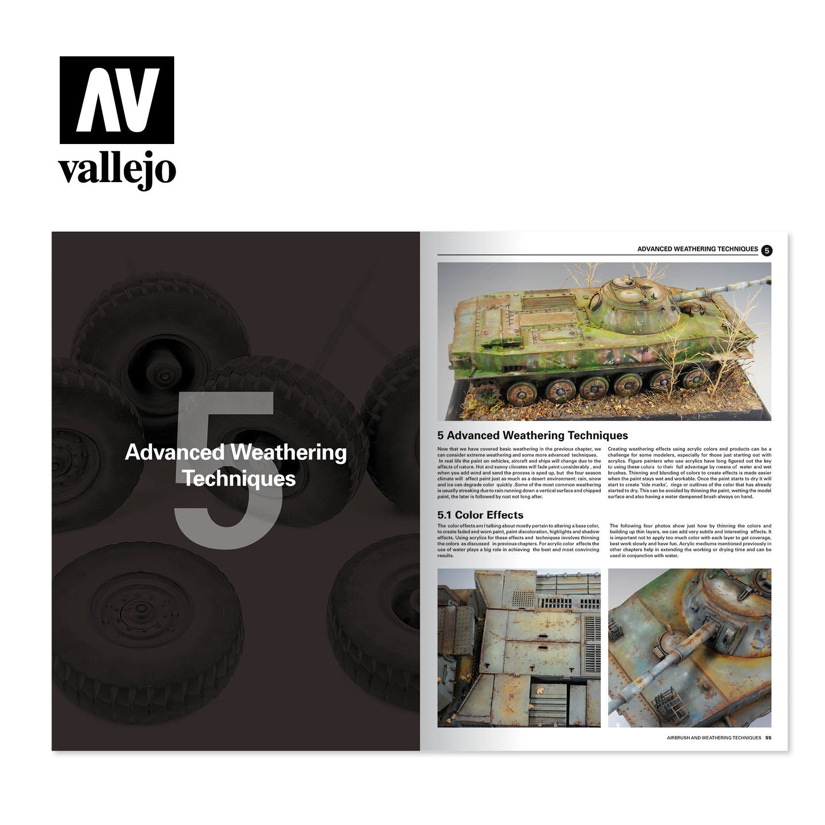Vallejo Airbrush And Weathering Techniques - English - Vallejo - VAL-75002