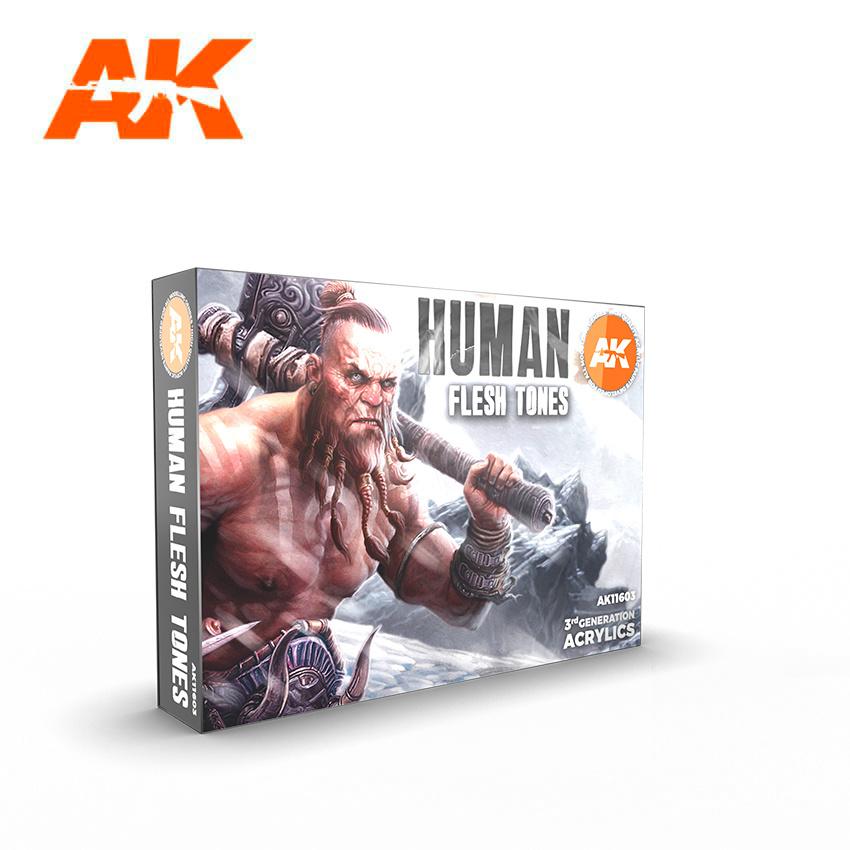 AK-Interactive Human Flesh Tones - AK-Interactive - AK-11603