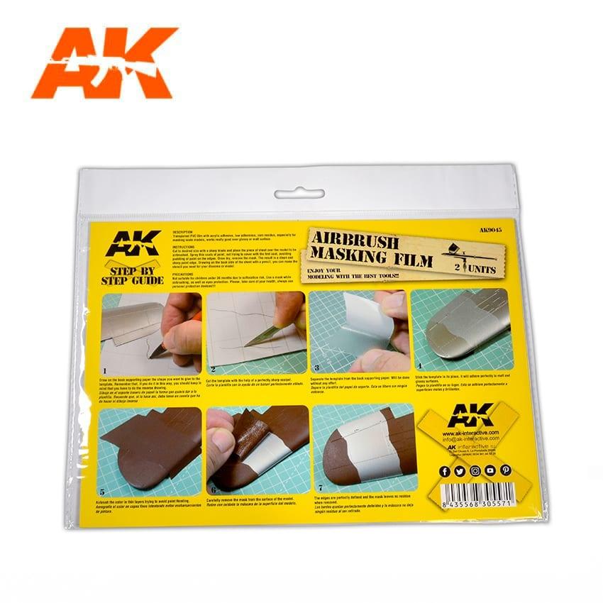 AK-Interactive Airbrushing Masking Film (2 Units Size A4) - AK-Interactive - AK-9045