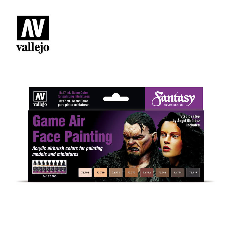 Vallejo Game Air Face Painting ( Male & Female) - Vallejo - VAL-72865