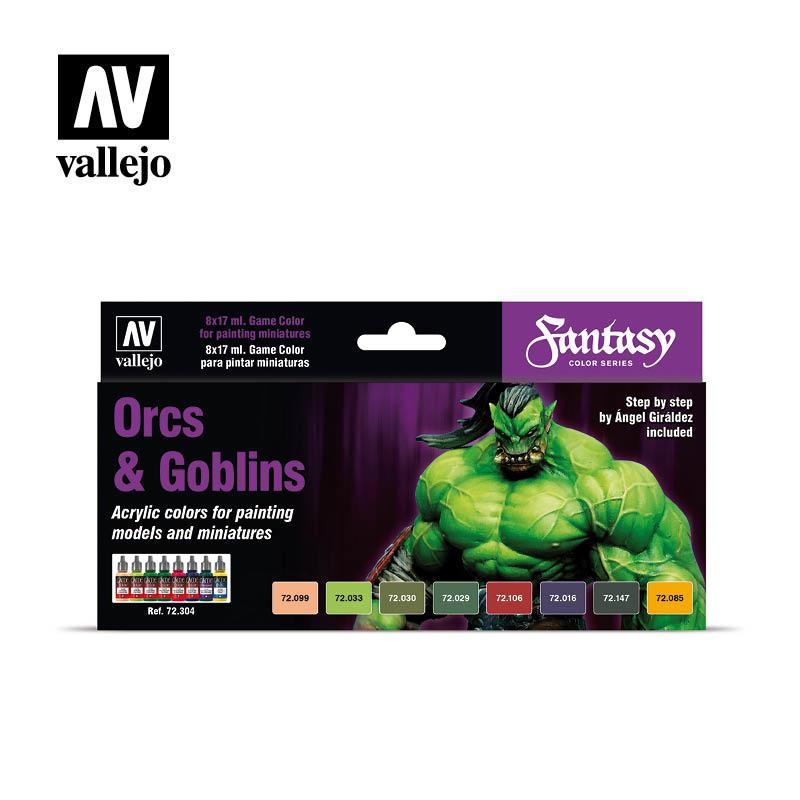 Vallejo Game Color Set: Orcs & Goblins (8) - Vallejo - VAL-72304