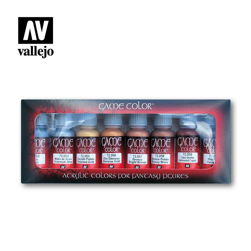 Vallejo Game Color Metallic Colors Set - Vallejo - VAL-72303