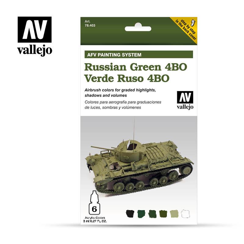 Vallejo AFV Russian Green 4Bo - Vallejo - VAL-78403