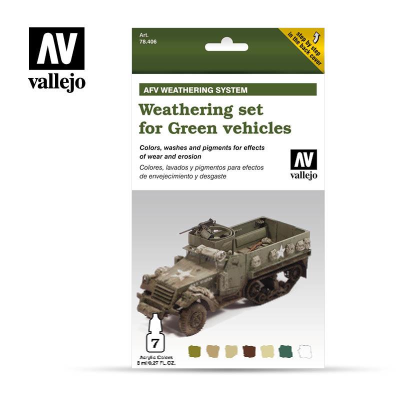 Vallejo Weathering Green Vehicles - Vallejo - VAL-78406