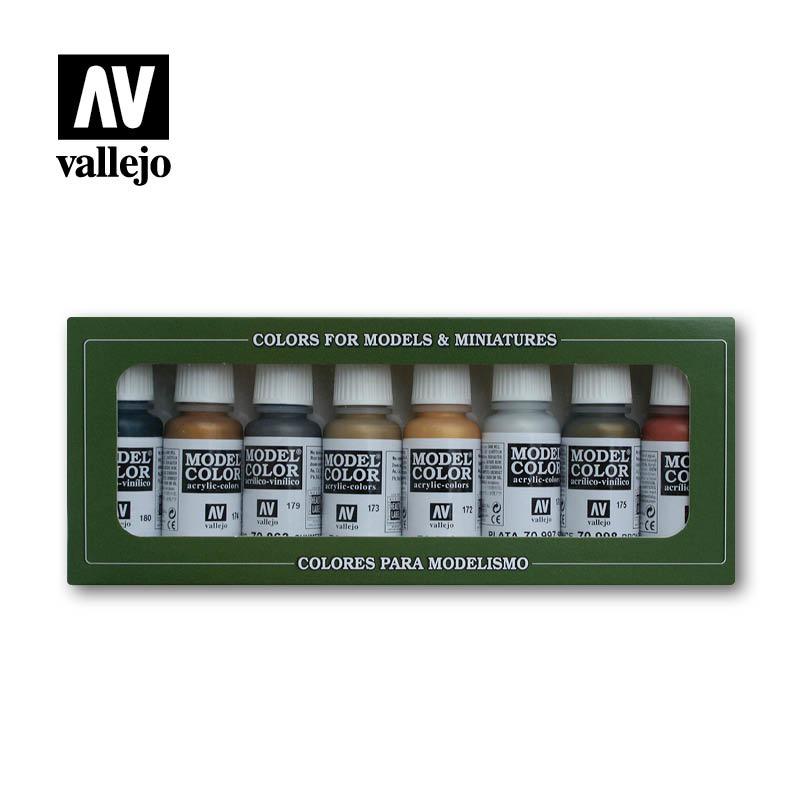 Vallejo Model Color - Metallic Colors Set - Vallejo - VAL-70118
