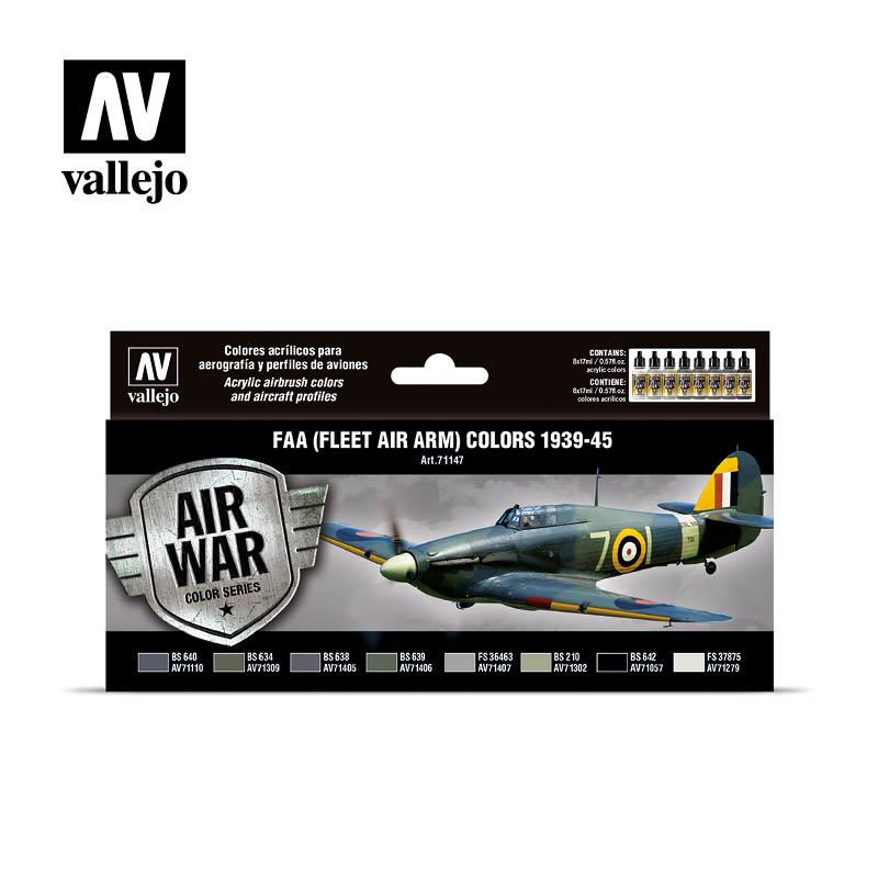 Vallejo Model Air - Faa (Fleet Air Arm) Colors 1939-1945 Set - Vallejo - VAL-71147