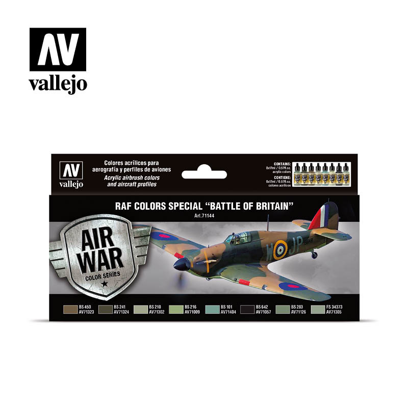 Vallejo Model Air - RAF colors special Battle of Britain Set - Vallejo - VAL-71144