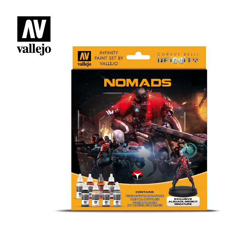 Vallejo Model Color - Infinity Nomads Excl. Miniature Paint Se Set - Vallejo - VAL-70233