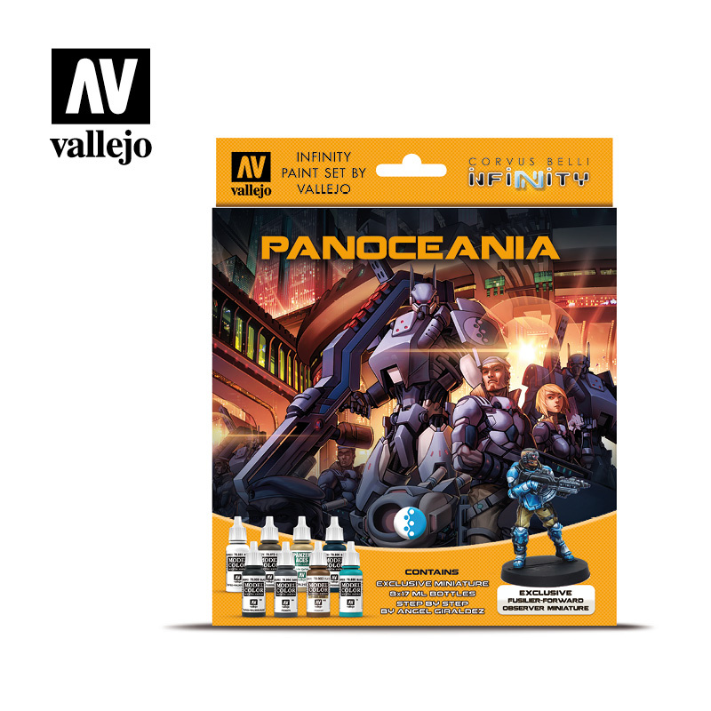Vallejo Model Color - Infinity Panoceania Excl. Miniature Pain Set - Vallejo - VAL-70231
