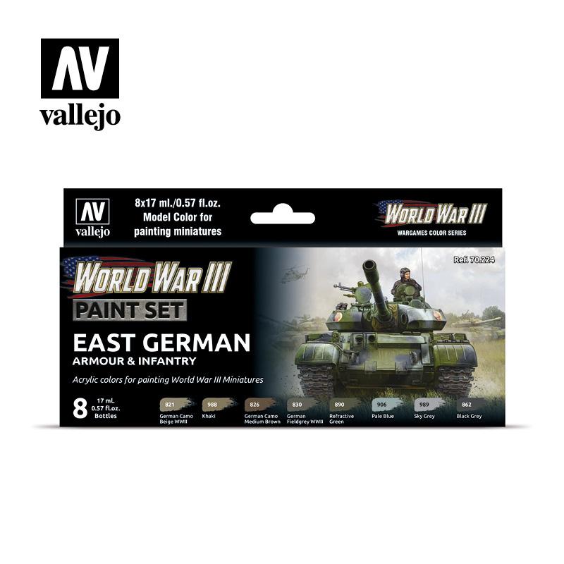 Vallejo Model Color - WWIII East German Armour & Infantry Set - Vallejo - VAL-70224