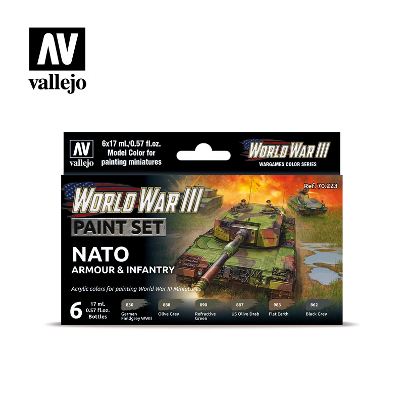 Vallejo Model Color - WWIII Nato Armour & Infantry Set - Vallejo - VAL-70223