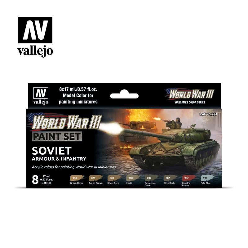 Vallejo Model Color - WWIII Soviet Armour & Infantry Set - Vallejo - VAL-70221