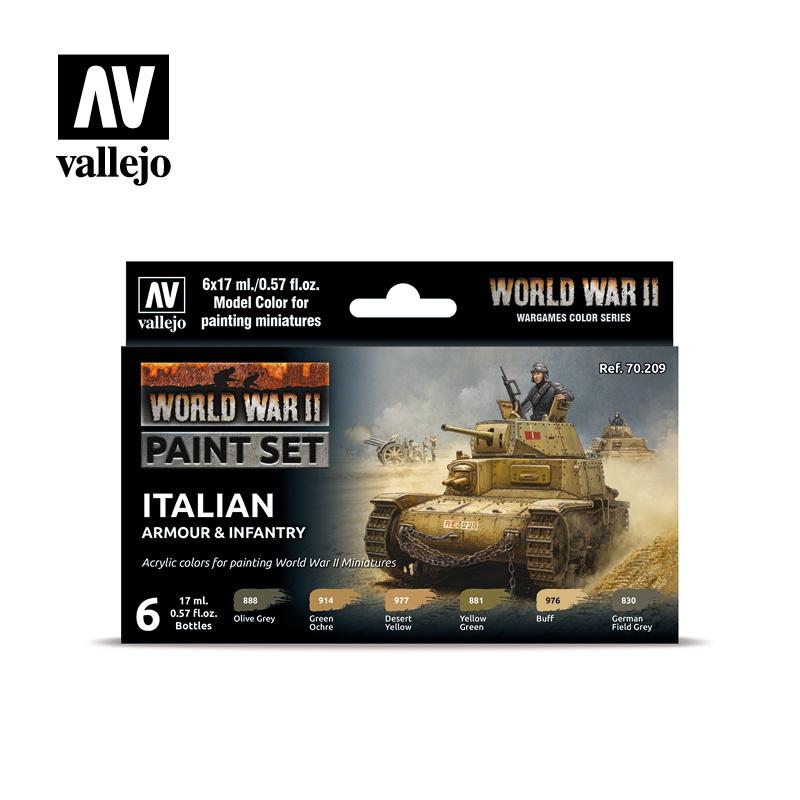 Vallejo Model Color - WWII Italian Armour & Infantry Set - Vallejo - VAL-70209