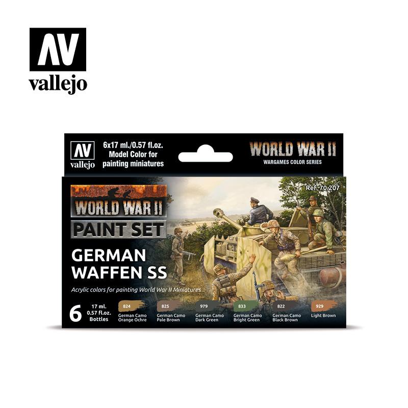 Vallejo Model Color - WWII German Waffen SS Set - Vallejo - VAL-70207