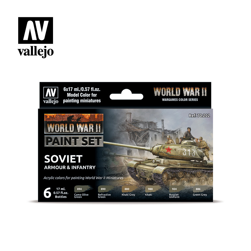 Vallejo Model Color - WWII Soviet Armour & Infantry Set - Vallejo - VAL-70202
