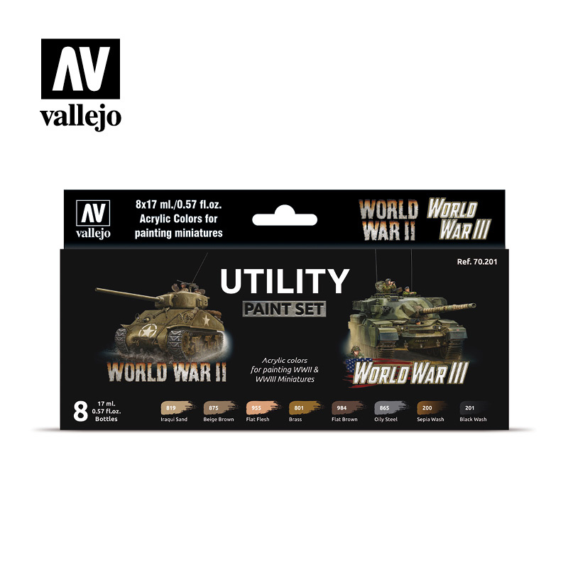 Vallejo Model Color - Utility Paint Set Set - Vallejo - VAL-70201