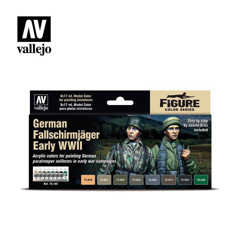 Vallejo Model Color - German Falschirmjäger Early WWII Set - Vallejo - VAL-70185