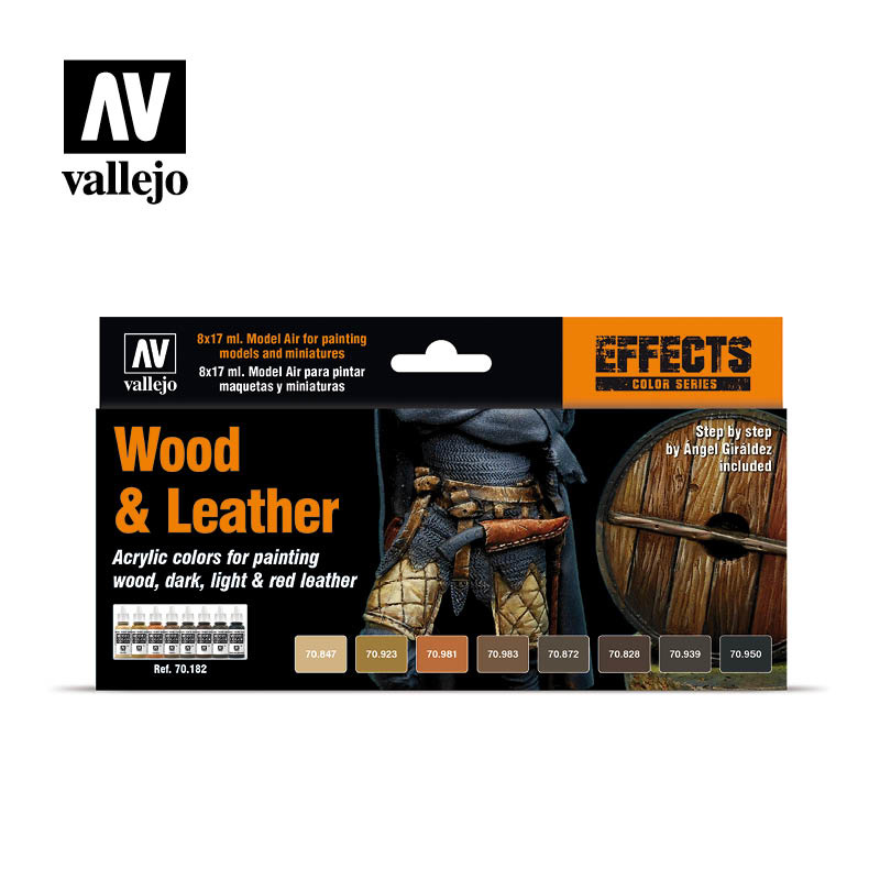 Vallejo Model Color - Wood & Leather Set - Vallejo - VAL-70182