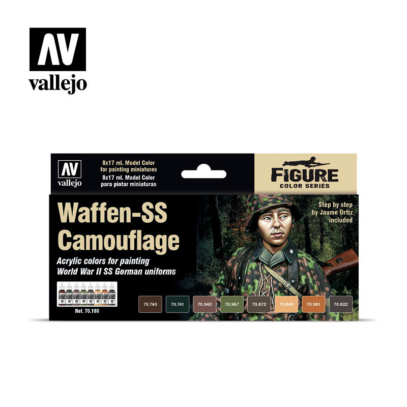 Vallejo Model Color - Waffen SS Camouflage Set - Vallejo - VAL-70180