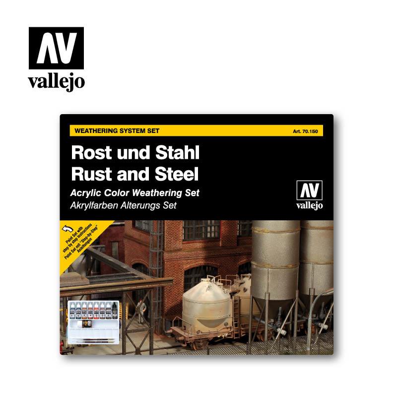 Vallejo Model Color - Rust & Steel Set - Vallejo - VAL-70150