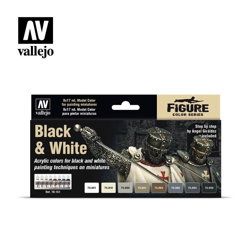 Vallejo Model Color - Black & White Set - Vallejo - VAL-70151