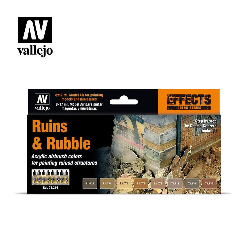 Vallejo Model Air - Ruins & Rubble Set - Vallejo - VAL-71214