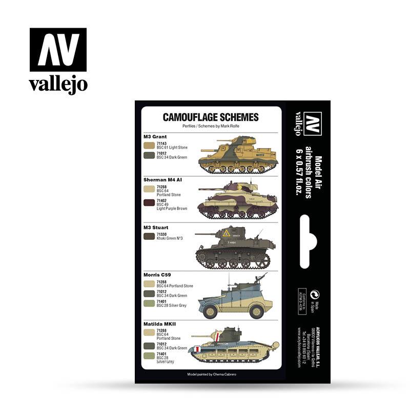 Vallejo Model Air - British Caunter Colors Set - Vallejo - VAL-71211