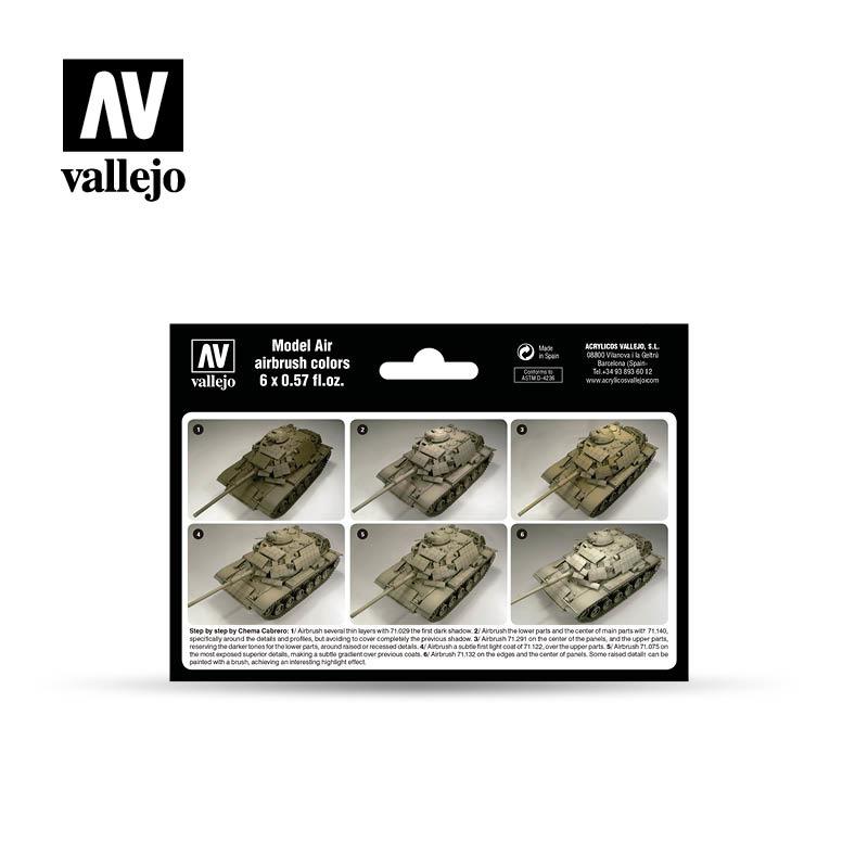 Vallejo Model Air - Us Modern Dessert Colors Set - Vallejo - VAL-71209