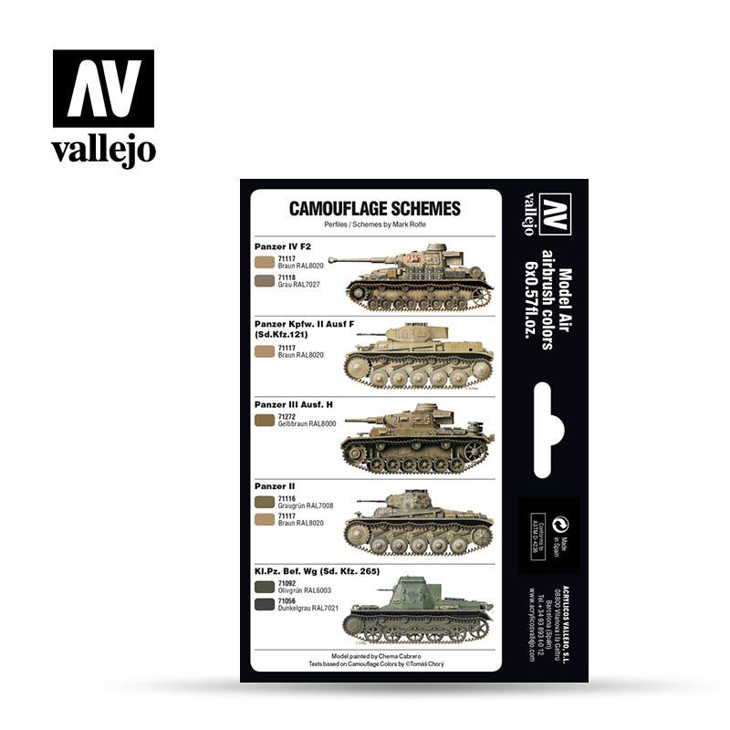 Vallejo Model Air - Dak Colors 1941-1944 Set - Vallejo - VAL-71207