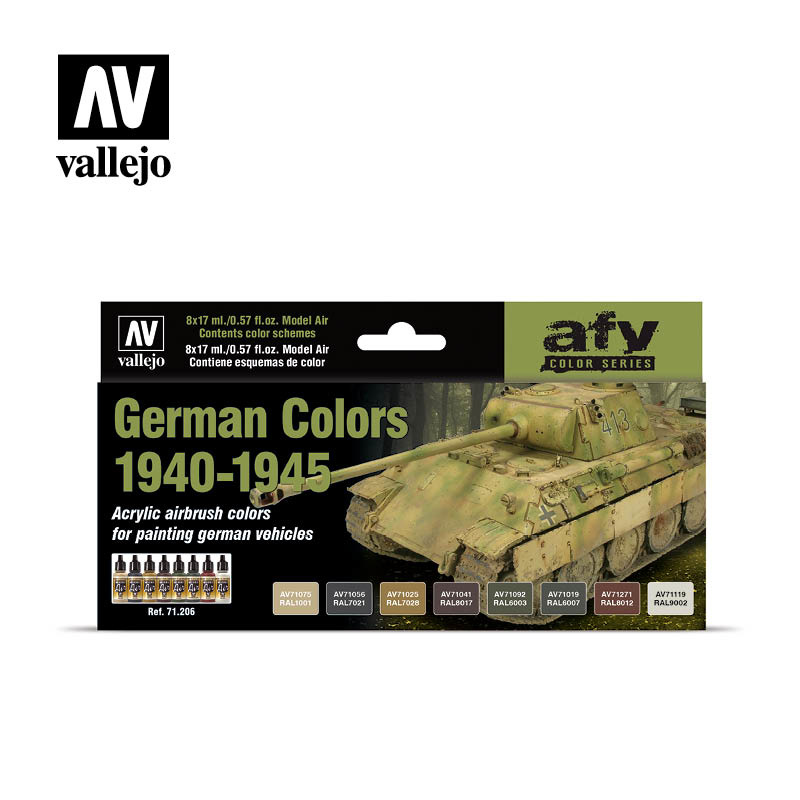 Vallejo Model Air - German Wwii Colors 1940-1945 (8) Set - Vallejo - VAL-71206
